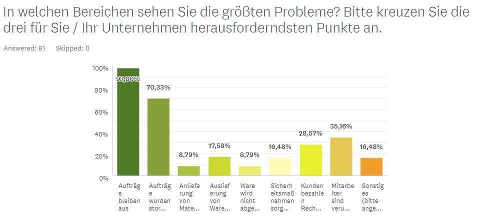 Umfrage Druck & Medienbranche, Probleme